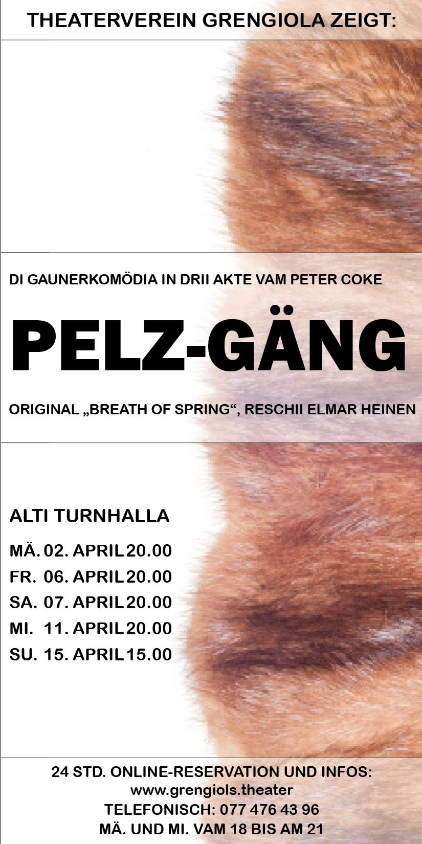 Flyer Pelz-Gang